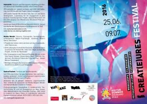 FlyerS1_TUFA FestivalCreatures2016